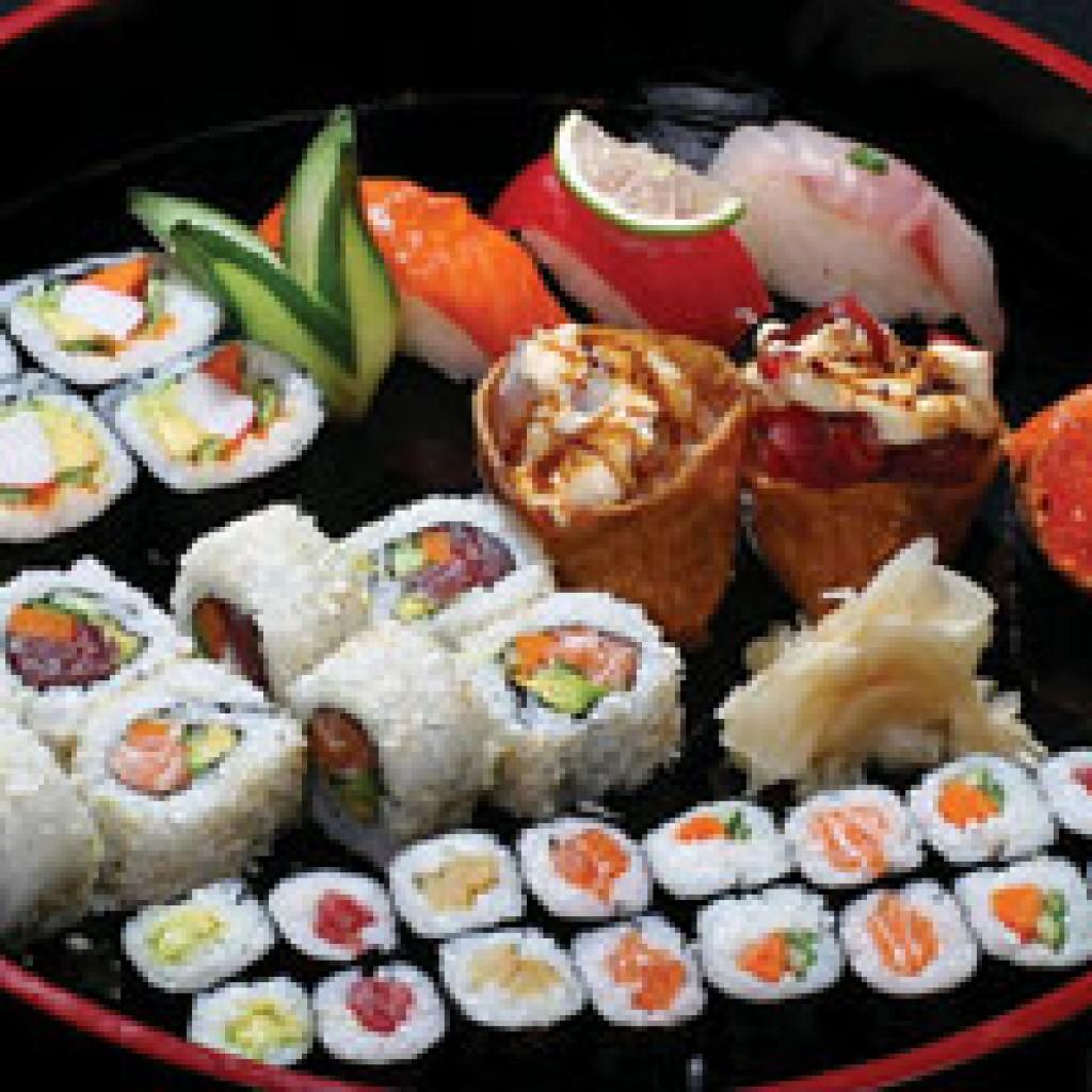 суши в ресторане