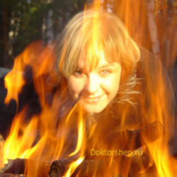 Лечение волос открытым огнем