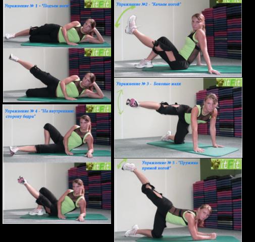 Упражнения для похудения в бедрах