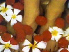 Ванна для ног – воздействие на рефлекторные зоны стоп